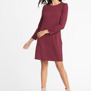Ponte knit shift dress size Med NWT